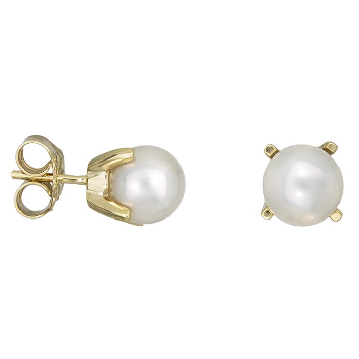Γυναικεία σκουλαρίκια Κ14 μαργαριτάρι 027878 027878 Χρυσός 14 Καράτια