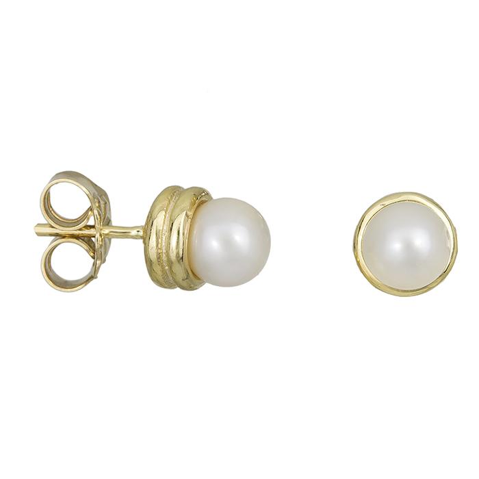 Γυναικεία σκουλαρίκια Κ14 μαργαριτάρι 027879 027879 Χρυσός 14 Καράτια