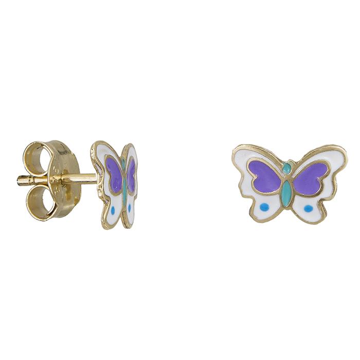 Παιδικά χρυσά σκουλαρίκια πεταλούδες Κ9 027936 027936 Χρυσός 9 Καράτια