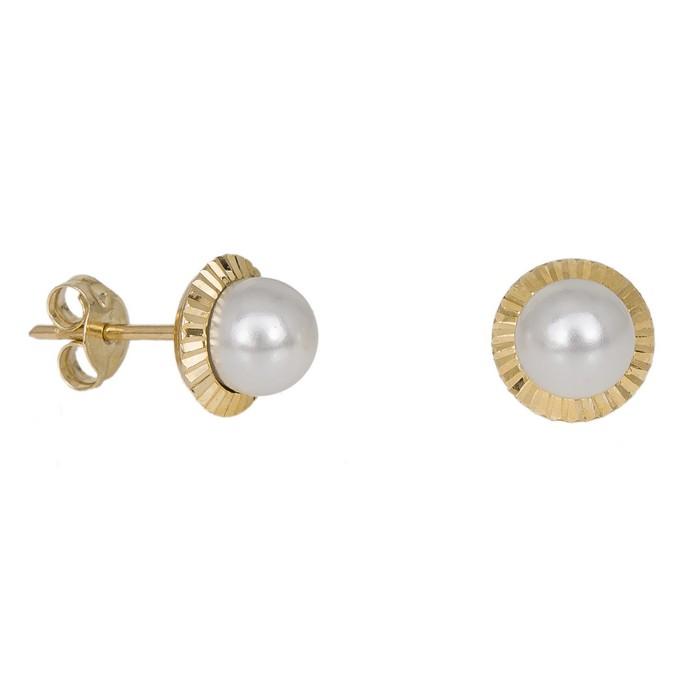 Γυναικεία σκουλαρίκια Κ9 με μαργαριτάρια 027948 027948 Χρυσός 9 Καράτια