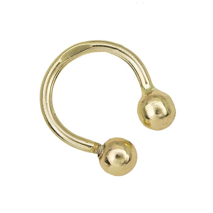 Χρυσό σκουλαρίκι μύτης Κ14 κρικάκι 027952 027952 Χρυσός 14 Καράτια