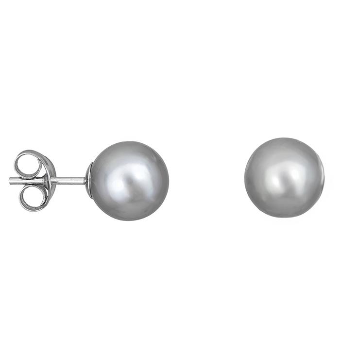 Γυναικεία σκουλαρίκια Λευκόχρυσο Κ14 μαργαριτάρια 028018 028018 Χρυσός 14 Καράτια