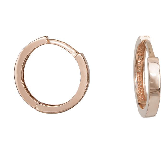 Γυναικεία σκουλαρίκια Ροζ gold Κ14 κρικάκια 028043 028043 Χρυσός 14 Καράτια