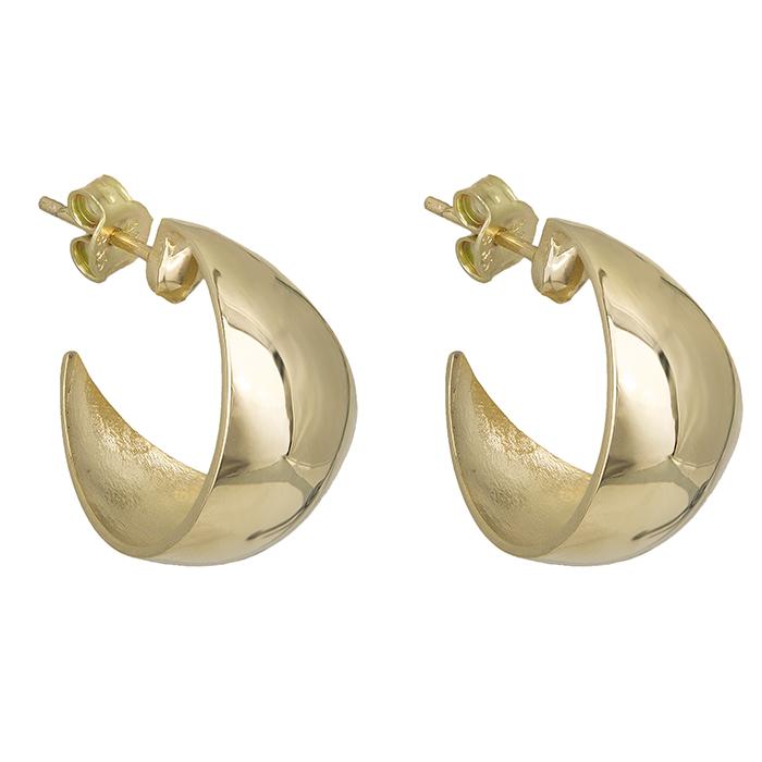 Χρυσά γυναικεία σκουλαρίκια Κ14 λουστρέ 028290 028290 Χρυσός 14 Καράτια