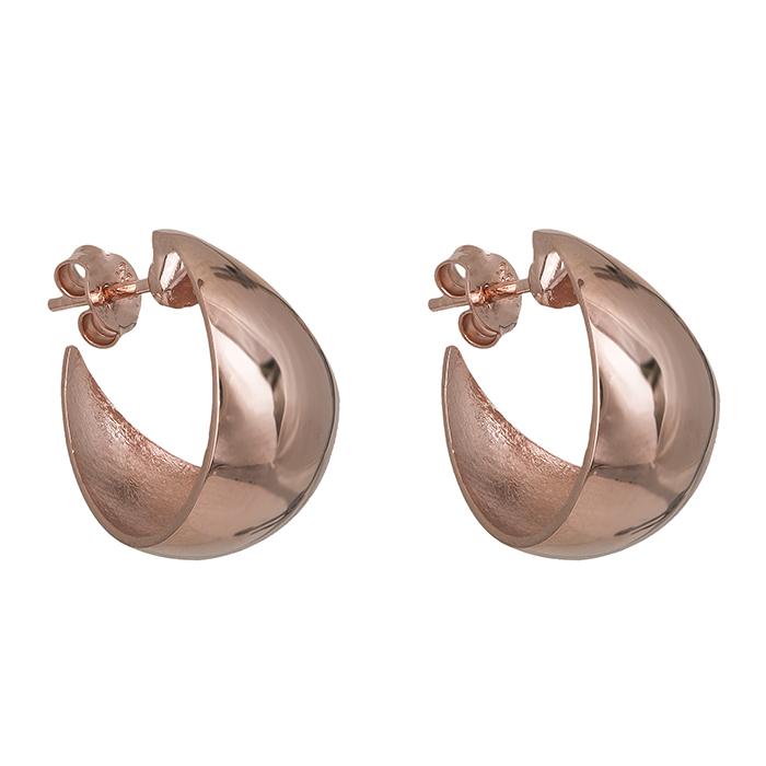 Γυναικεία σκουλαρίκια Κ14 ροζ gold λουστρέ 028291 028291 Χρυσός 14 Καράτια