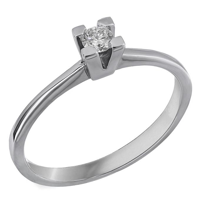 Κλασικό μονόπετρο με διαμάντι Κ18 028300 028300 Χρυσός 18 Καράτια