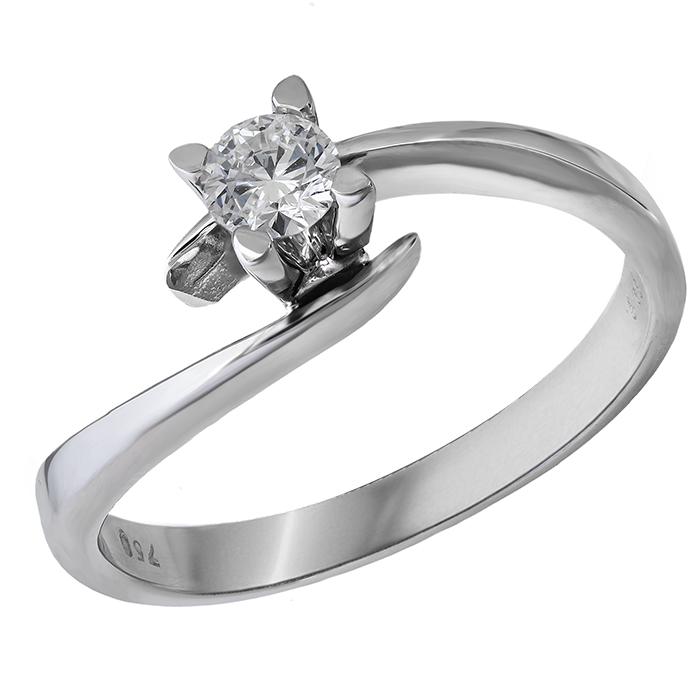 Μονόπετρο δαχτυλίδι με διαμάντι Κ18 028388 028388 Χρυσός 18 Καράτια 0f1afb1f519
