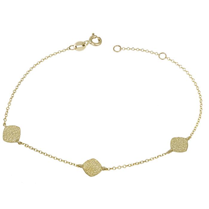 Χρυσό βραχιόλι γυναικείο Κ14 ματ ανάγλυφο 028420 028420 Χρυσός 14 Καράτια