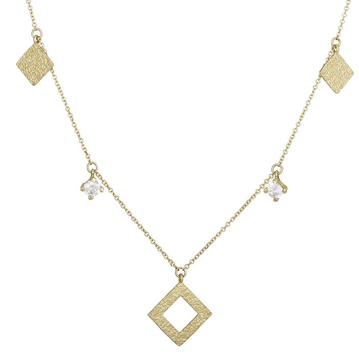 Γυναικείο χρυσό κολιέ Κ14 ρόμβος 028425 028425 Χρυσός 14 Καράτια