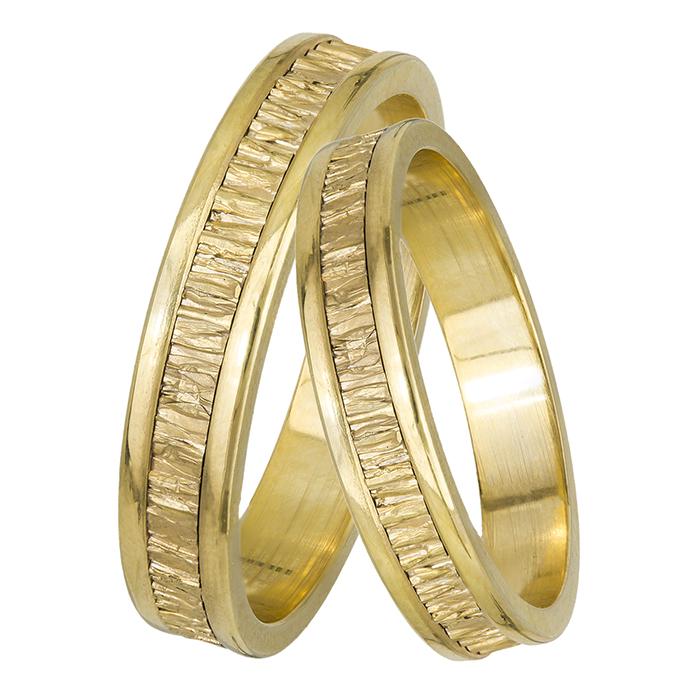 Χρυσές βέρες με ανάγλυφο σχέδιο Κ14 028465 028465 Χρυσός 14 Καράτια  μεμονωμένο τεμάχιο c2e1b02d5f2