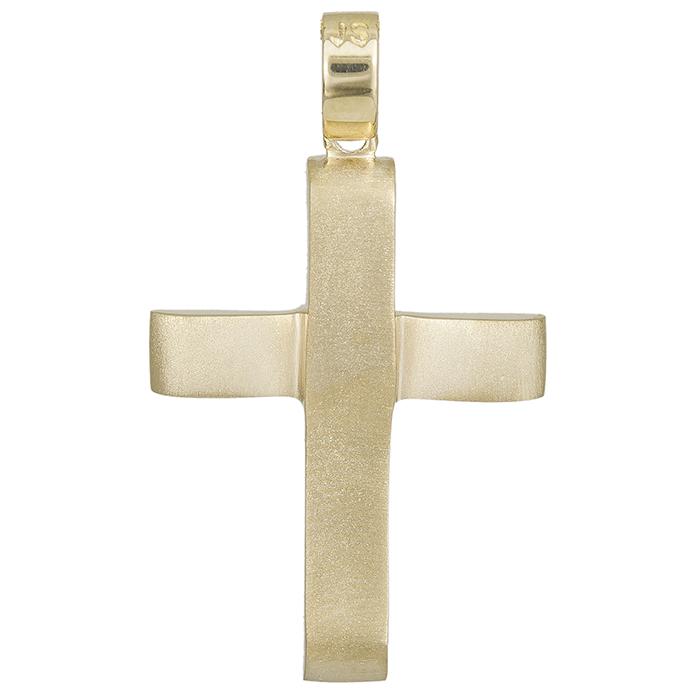 Σταυροί Βάπτισης - Αρραβώνα Αντρικός σταυρός χρυσός Κ14 ματ 028536 028536 Ανδρικό Χρυσός 14 Καράτια