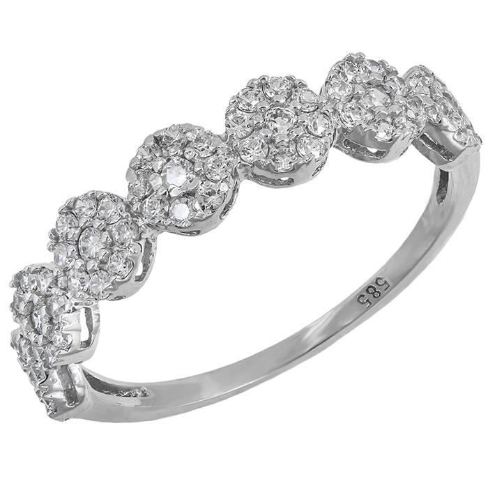 Λευκόχρυσο δαχτυλίδι Κ14 σειρέ 028665 028665 Χρυσός 14 Καράτια