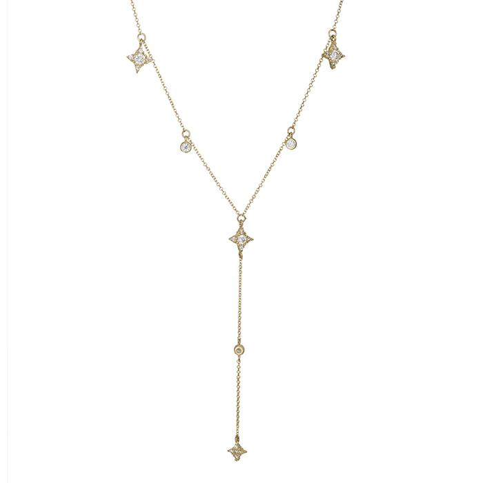 Γυναικείο χρυσό κολιέ Κ14 με ζιργκόν 028670 028670 Χρυσός 14 Καράτια