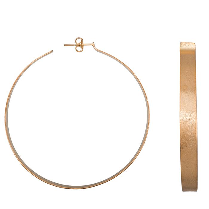 Γυναικεία σκουλαρίκια ασήμι 925 ροζ κρίκοι 028675 028675 Ασήμι