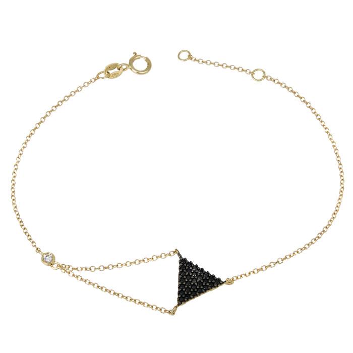 Χρυσό βραχιόλι Κ14 με μαύρες πέτρες 028688 028688 Χρυσός 14 Καράτια e871550f495