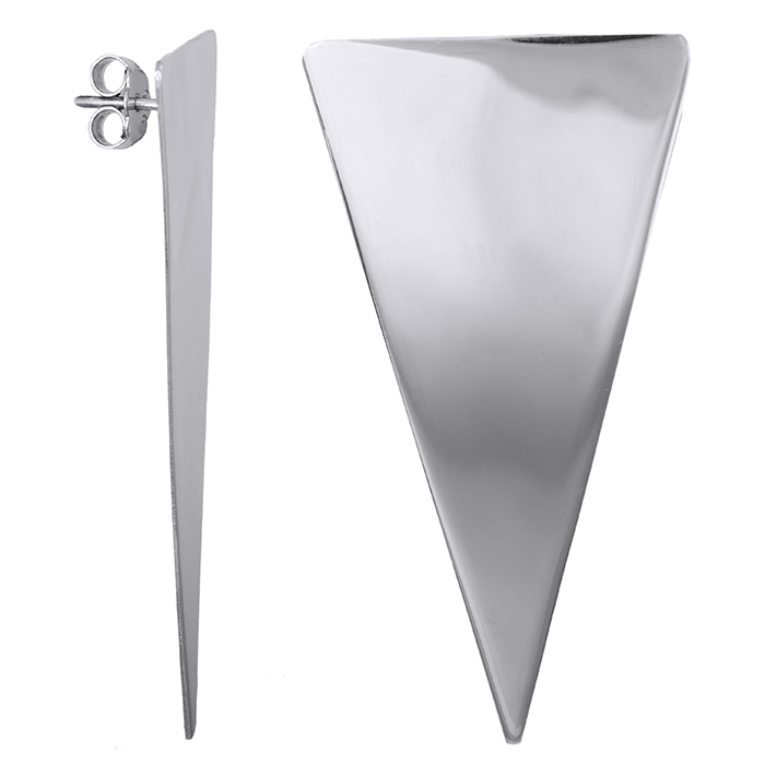 Ασημένια σκουλαρίκια 925 τρίγωνο 028703 028703 Ασήμι