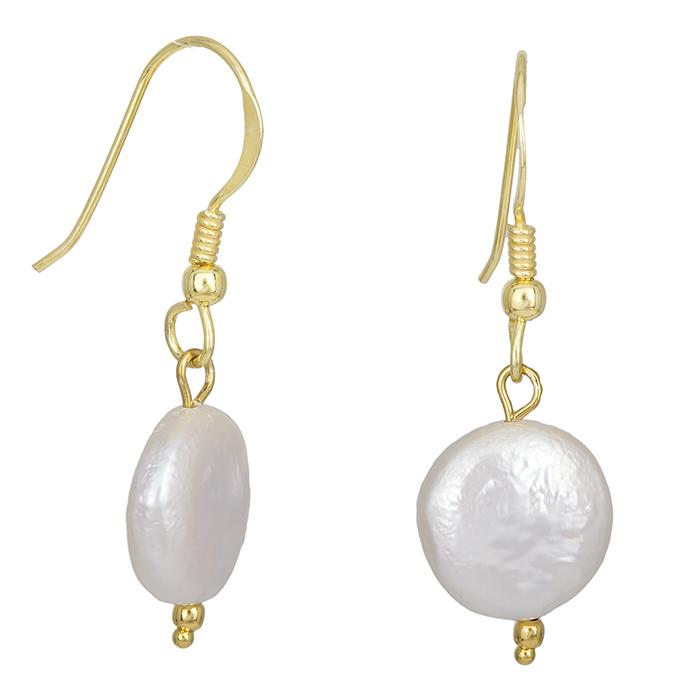 Κρεμαστά σκουλαρίκια ασήμι 925 με μαργαριτάρι 028710 028710 Ασήμι