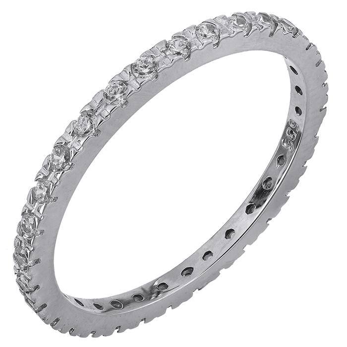 Ολόβερο δαχτυλίδι Κ14 με ζιργκόν 028744 028744 Χρυσός 14 Καράτια