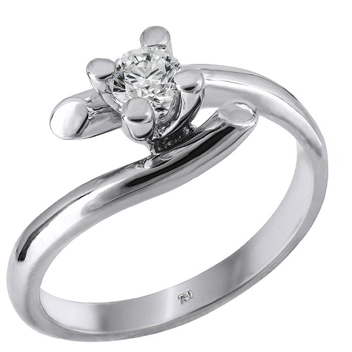 Μονόπετρο με διαμάντι Κ18 028933 028933 Χρυσός 18 Καράτια 756bc2bf3cb