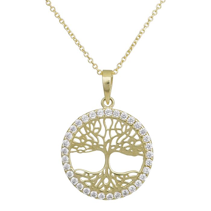 Χρυσό κολιέ Κ14 με το δέντρο της ζωής 028969C 028969C Χρυσός 14 Καράτια