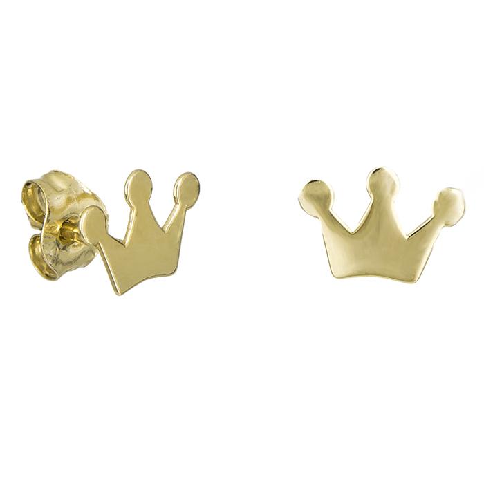 Χρυσά σκουλαρίκια Κ9 κορώνες 029105 029105 Χρυσός 9 Καράτια