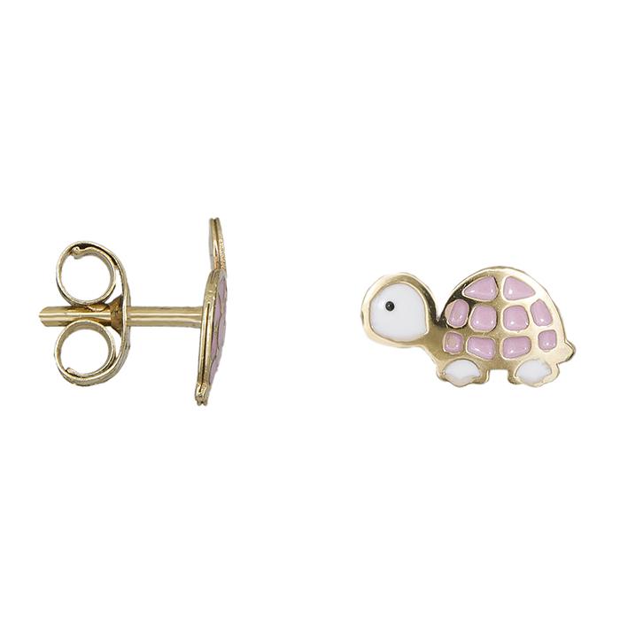 Παιδικά σκουλαρίκια Κ9 χελωνίτσες 029111 029111 Χρυσός 9 Καράτια 5c6f2e92bfe