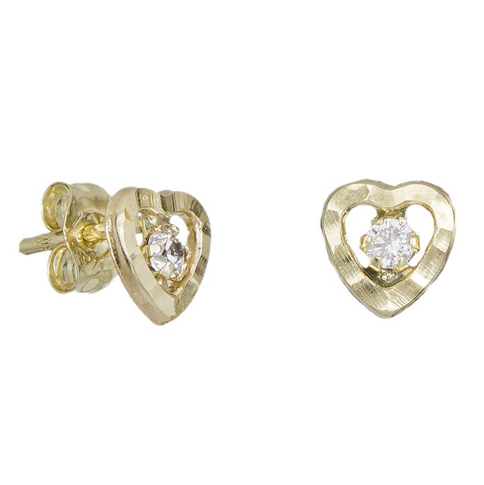 Παιδικά σκουλαρίκια Κ9 καρδούλες 029119 029119 Χρυσός 9 Καράτια