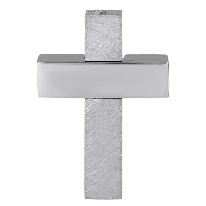 Σταυροί Βάπτισης - Αρραβώνα Λευκόχρυσος αντρικός σταυρός Κ18 ματ 029129 029129 Ανδρικό Χρυσός 18 Καράτια