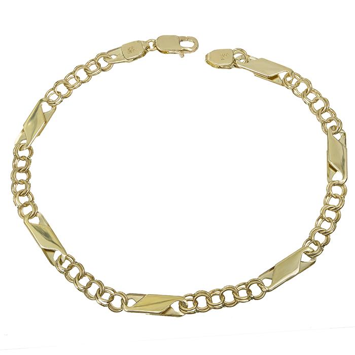 Ανδρική αλυσίδα χεριού Κ14 χρυσή 029139 029139 Χρυσός 14 Καράτια