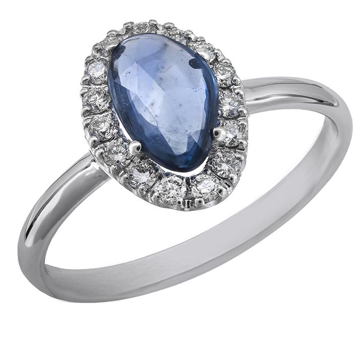 Λευκόχρυσο δαχτυλίδι με ζαφείρι Κ18 029140 029140 Χρυσός 18 Καράτια