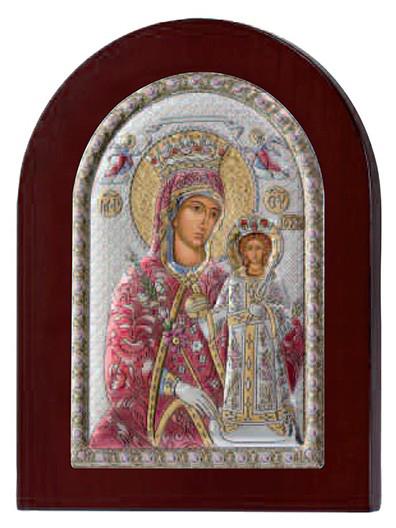 Ασημένια έγχρωμη εικόνα Παναγία Βηθλεέμ 925 029158 029158 Ασήμι