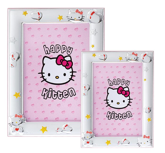 Σετ κορνίζες Happy Kitten για κοριτσάκι 029182 029182 Ασήμι