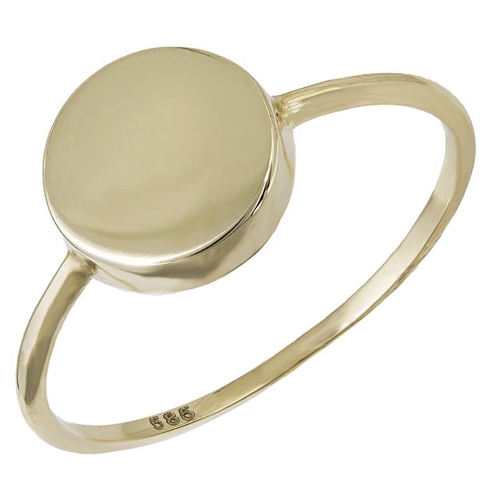 Χρυσό δαχτυλίδι Κ14 στρόγγυλο μοτίφ 029305 029305 Χρυσός 14 Καράτια