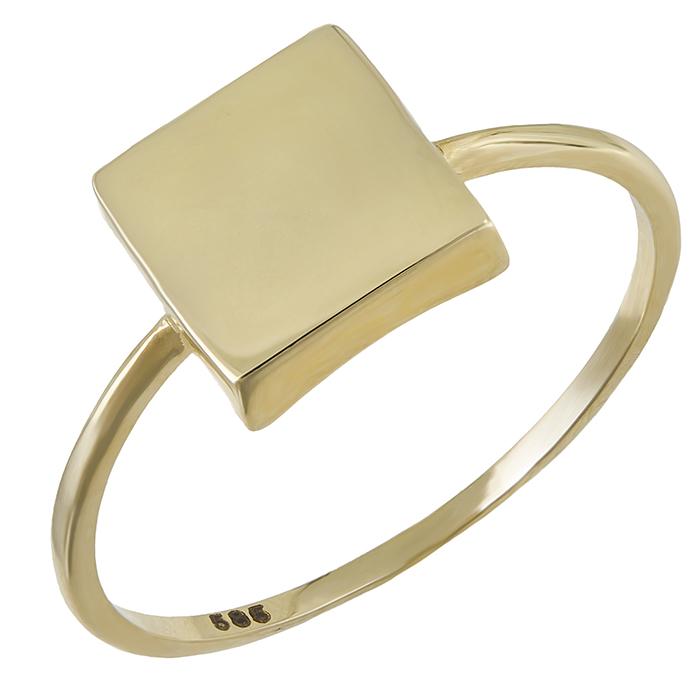 Χρυσό δαχτυλίδι Κ14 τετράγωνο 029306 029306 Χρυσός 14 Καράτια
