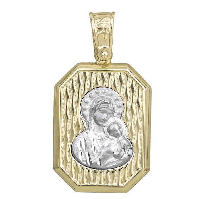 Δίχρωμο κωνσταντινάτο Κ14 διπλής όψης 029361 029361 Χρυσός 14 Καράτια