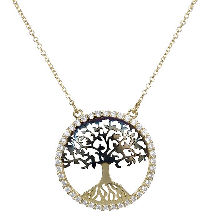 Χρυσό κολιέ Κ14 δέντρο της ζωής 029397 029397 Χρυσός 14 Καράτια
