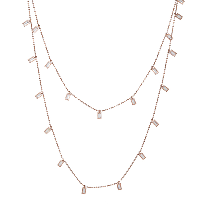 Γυναικείο ροζ επίχρυσο κολιέ 925 με ζιργκόν 029427 029427 Ασήμι