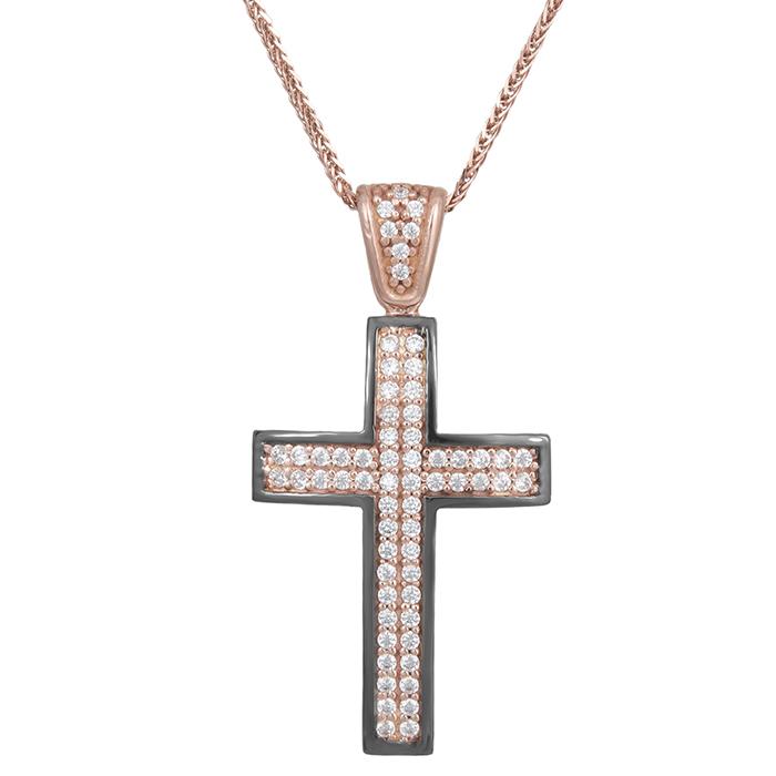 Βαπτιστικοί Σταυροί με Αλυσίδα Γυναικείος σταυρός με αλυσίδα Κ14 πετράτος 029490C 029490C Γυναικείο Χρυσός 14 Καράτια