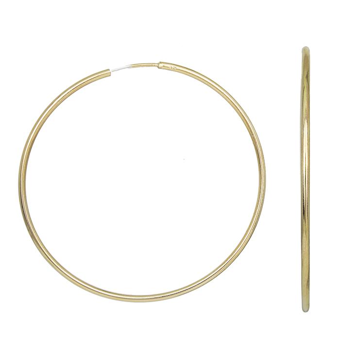 Γυναικεία σκουλαρίκια 925 επίχρυσοι κρίκοι 029554 029554 Ασήμι