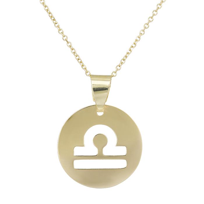 Χρυσό κολιέ Κ14 Ζυγός 029562 029562 Χρυσός 14 Καράτια