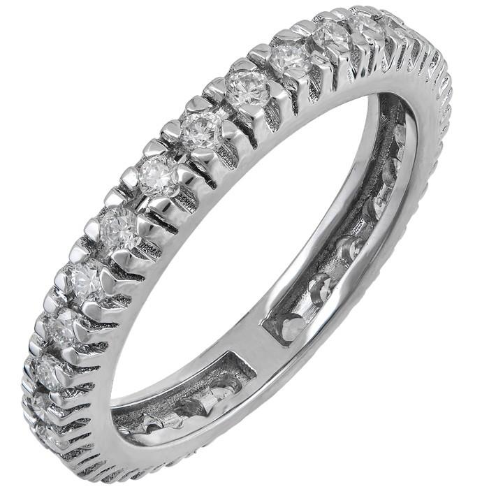 Ολόβερο λευκόχρυσο δαχτυλίδι Κ18 με διαμάντια 029570 029570 Χρυσός 18 Καράτια