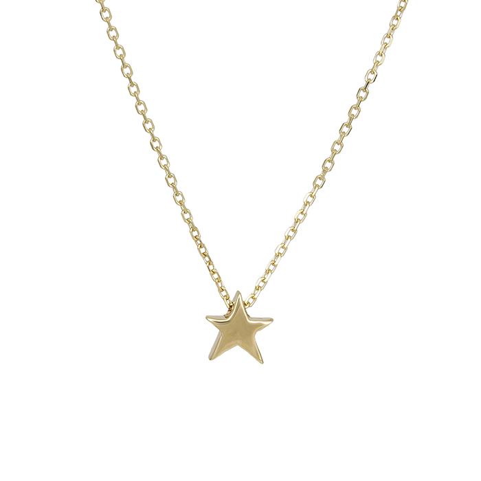 Γυναικείο κολιέ Κ14 χρυσό αστεράκι 029578 029578 Χρυσός 14 Καράτια