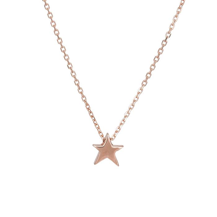 Κολιέ αστεράκι Κ14 ροζ gold 029579 029579 Χρυσός 14 Καράτια