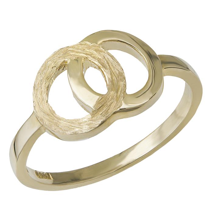Χρυσό δαχτυλίδι Κ14 κύκλοι 029704 029704 Χρυσός 14 Καράτια
