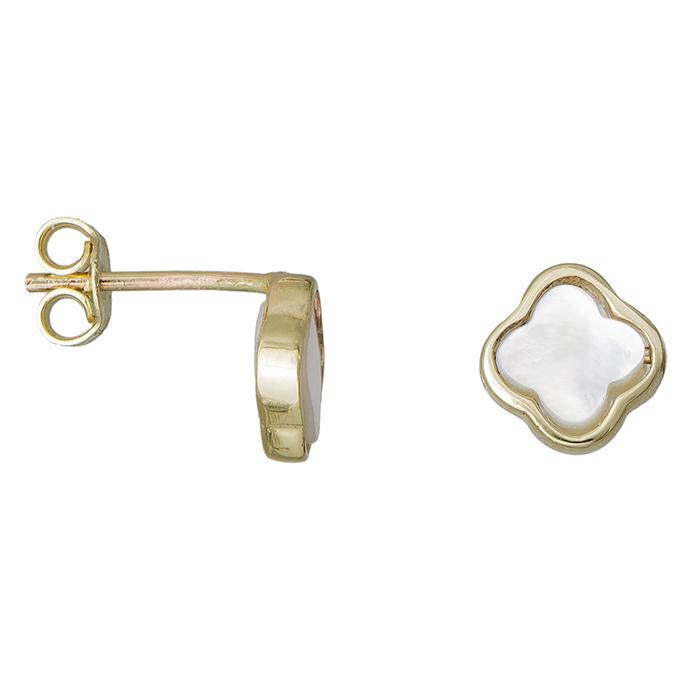 Χρυσά σκουλαρίκια Κ9 με φίλντισι σταυρουδάκι 029795 029795 Χρυσός 9 Καράτια