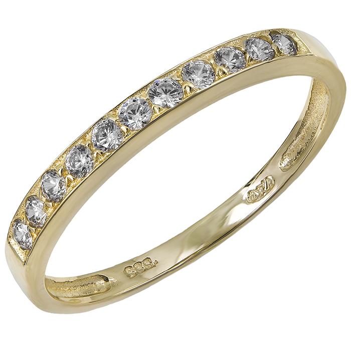 Χρυσό σειρέ δαχτυλίδι Κ14 με ζιργκόν 029816 029816 Χρυσός 14 Καράτια