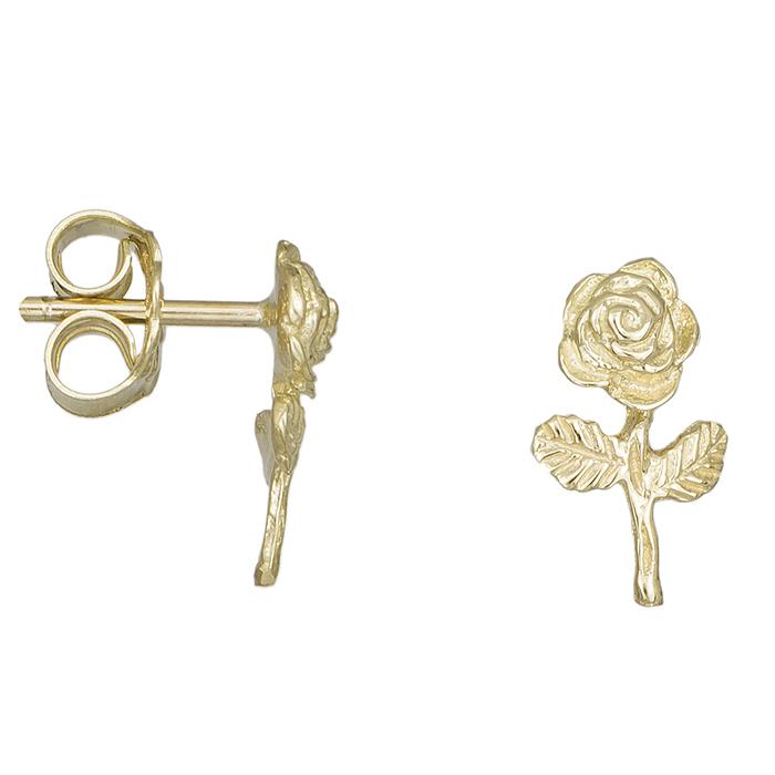 Γυναικεία σκουλαρίκια Κ14 τριανταφυλλάκια 030034 030034 Χρυσός 14 Καράτια