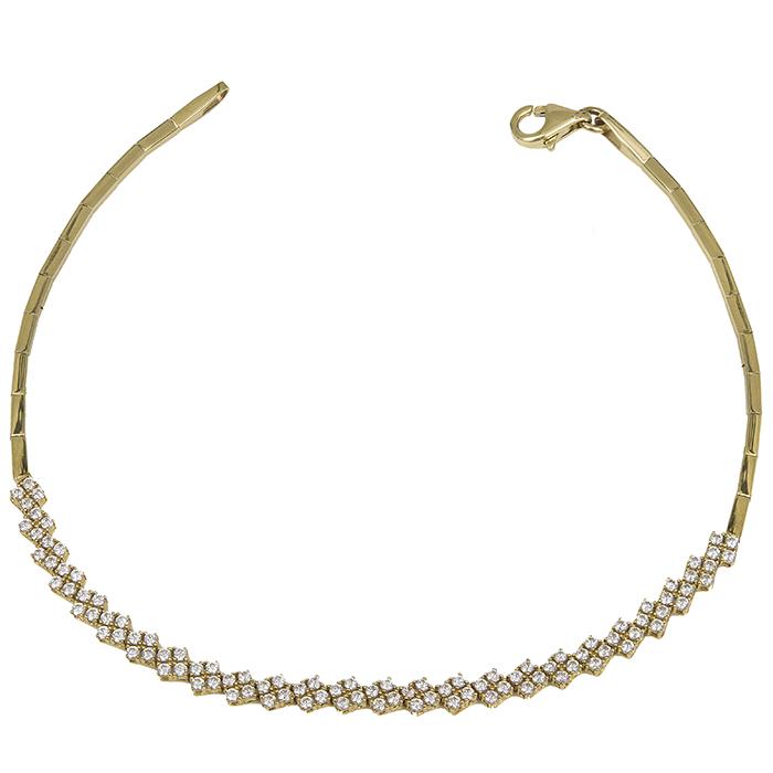 Χρυσό βραχιόλι Κ14 πετράτοι ρόμβοι 030226 030226 Χρυσός 14 Καράτια