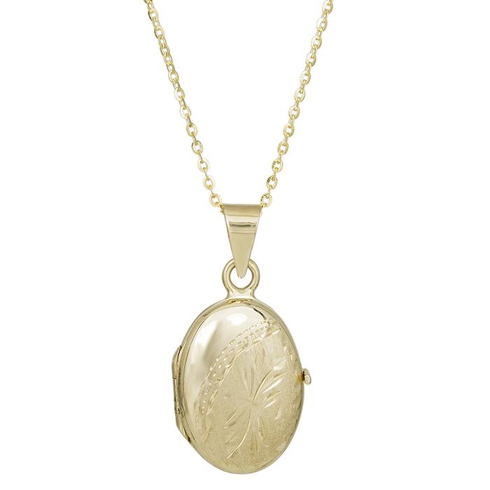 Χρυσό κολιέ Κ14 με οβάλ ανοιγόμενο μενταγιόν 030260C 030260C Χρυσός 14 Καράτια