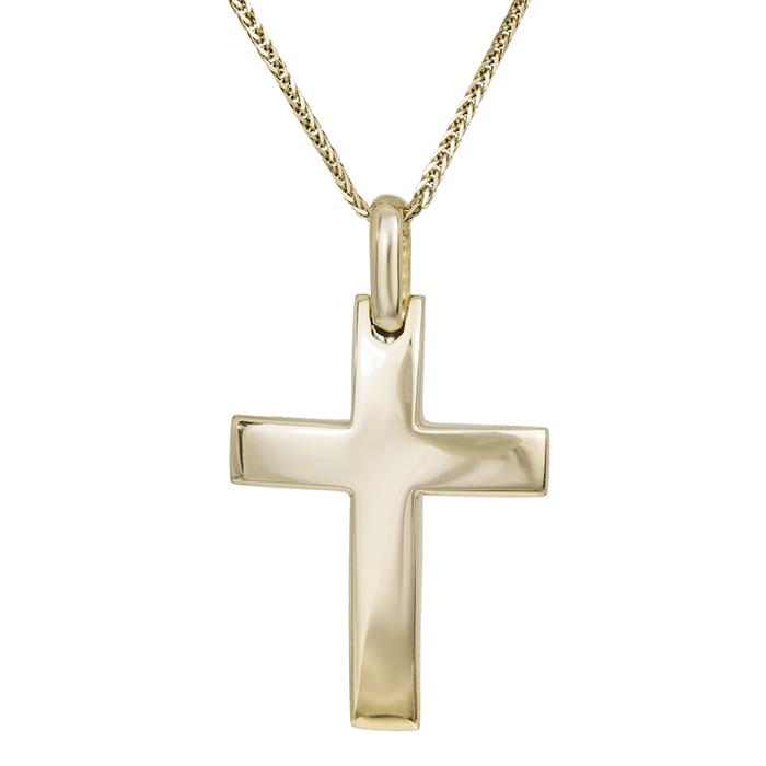 Βαπτιστικοί Σταυροί με Αλυσίδα Ανδρικός σταυρός Κ14 χρυσός με αλυσίδα 030363C 030363C Ανδρικό Χρυσός 14 Καράτια
